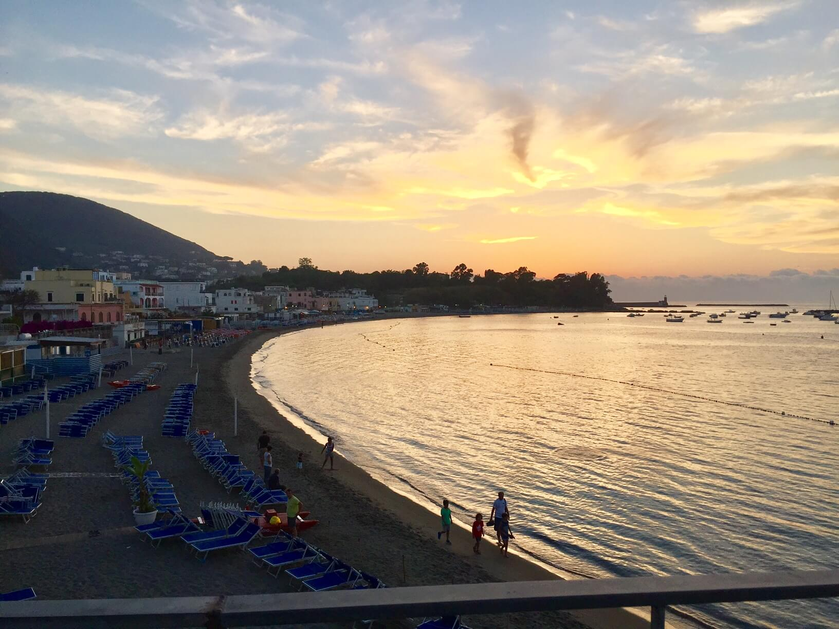 Sunset Ischia Beatch